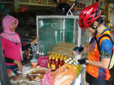 buying food at Tanjung Sedili Besar