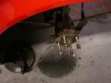 Long wheel studs mounted to hubs...
