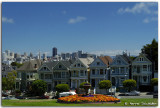 Alamo square, the Six Sisters Victorian houses