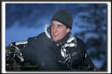 _MG_3032 .jpg  -  KEVIN LE SOIR SUR UNE MOTO-NEIGE  /  KEVIN AT NIGHT SIT ON A SNOW-MOBILE