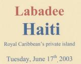2003 - Caribbean Cruise 3 - Labadee, Haiti