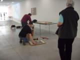 building up exhibit in M - 8