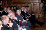 Prof. Peter Adriaenssens - Zr. Jeanne Devos - Rector Mark Waer - Minister President Kris Peeters - ererector André Oosterlinc