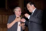 Zr. Jeanne Devos en Burgemeester Louis Tobback