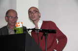 Veilingmeester Mon Bernaerts en Paul Baeten Gronda