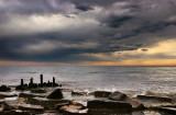 Morning storm of Lake Michigan