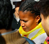 Majora Carter after speaking about her beliefs and support of Tibet.