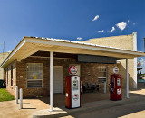 The Archer City, Tx restored Mobil Station