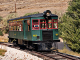 This self propelled  rail car belongs to a museum in Nevada and gives rides on a track around the museum grounds.