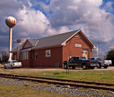 An old train depot at Hodge, Louisiana