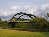 The Loop 360 Bridge Also known as the Pennybacker Bridge after the person who designed it.