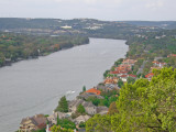 The Colorado river and loop 360 bridge from Mount Bonnell, Austin, TX