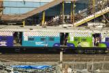 Red stripe carriage - 1st class women, Green stripe carriage - 2nd class women