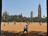Bombay High Court at Long On, Bombay University at Long Off, BSE behind the bowler
