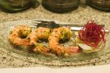 Lemon flavoured tiger prawns 'jhinga nimbu' @ San-Qi