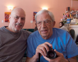 Ted and Scott Grant (Ted is the young fellow on the right, then one day shy of his 80th birthday...photo Spencer Cheng)
