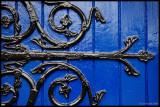 Blue Door and Hinge