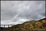 Meldon Viaduct Below Dark Clouds