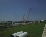 Two pieces of the Arch waiting to be installed in the next 30 days or so