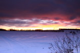 Fire and Ice ~ sunset Jan 18, 2010