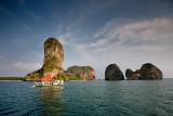Phra Nang Beach: Limestone Cliffs and Boat