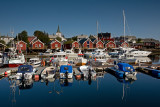 Moskenes Island: Reine: Boats with Reflections
