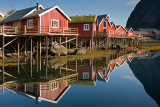 Moskenes Island: Reine: Rorbus and Reflections