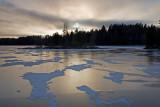 Lake Näsijärvi: Winter Sunset