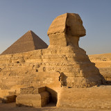 Giza: The Great Sphinx and Pyramid of Cheops