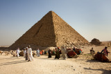 Giza: Pyramid of Mykerinos and Camel Drivers