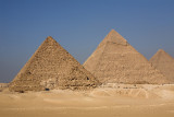 Giza: Pyramids of Mykerinos and  Khafre