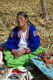 Handicraft Lady from Uros Islands