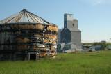 Old grain bin and elevator-Broadview, MT