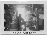 Inside Tent 706 at K16 in 1952