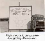 Flight Mechanic at Cheju-Do in 1952/53