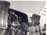 Bringing back wounded in 1952