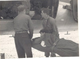 Bringing back wounded from front lines 1952