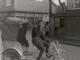 Rickshaw in 1952 Ashiya, Japan