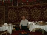 Inside Yurt at Kazak Aul restaurant, Medeo