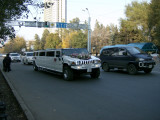 Stretched Hummer as wedding car