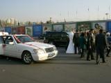 Wedding groups gathering at Independence Square