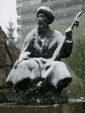 Zhubanov in the first snows of Winter