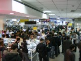 Part of the entire floor, nearly, given over to mobile phones at the TsUM store on Zhibek Zholy