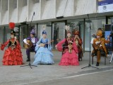 Traditional musicians outside the Concert Hall on Dostyk