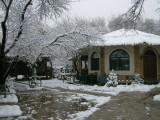 The Hodja Nasruddin courtyard after the snow