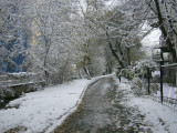 The Almatinka path in the snow