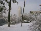 Snow and the Hotel Kazakhstan