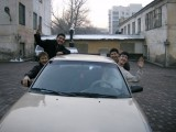 The Caspian lads with their new car