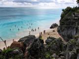Beach at the Tulum Mayan Ruins