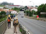 Entering Santiago de Compostela